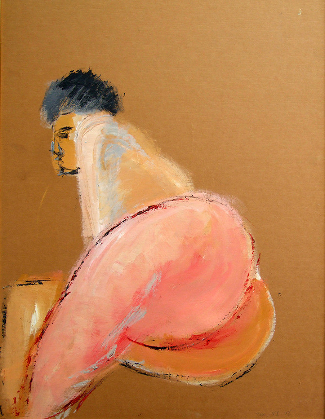Nude 4, 2013, acrylic on papaer, 100X70