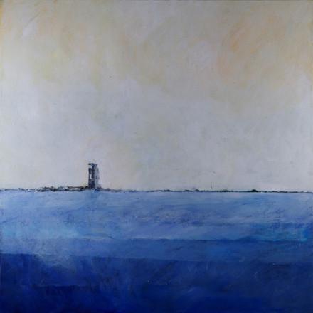 Breakwater dyptych 1, 2015, acrylic on canvas, 100X100 each