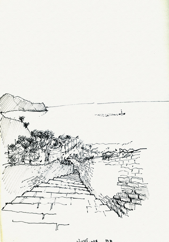 Massa Lubrnse 1, 2003, ink on paper, 30X21