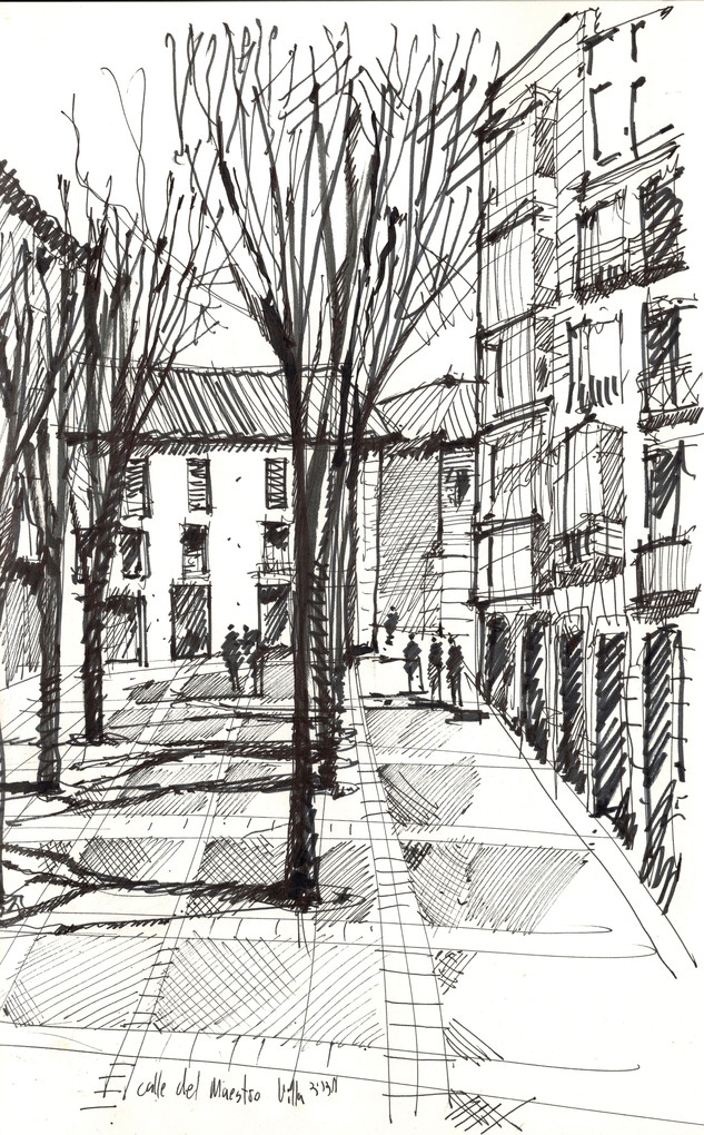 Madrid, 2009, ink on paper, 30X20.jpg