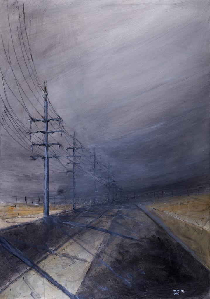 High voltage 1, 2016, acrylic canvas, 100X70