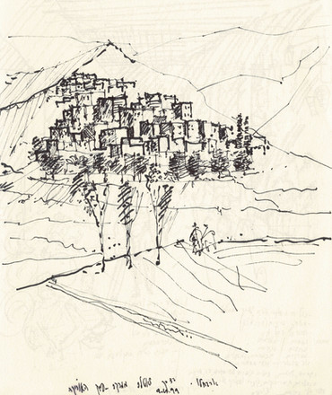 Morocco 1, 2002, ink on paper, 30X20.jpg