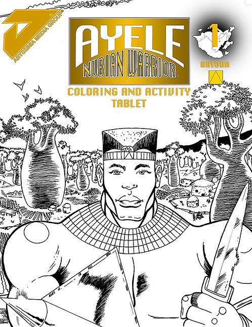 AYELE NUBIAN WARRIOR COLORING & ACTIVITY BOOK #1
