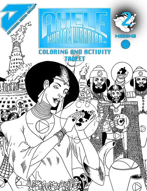 AYELE NUBIAN WARRIOR COLORING & ACTIVITY BOOK #2