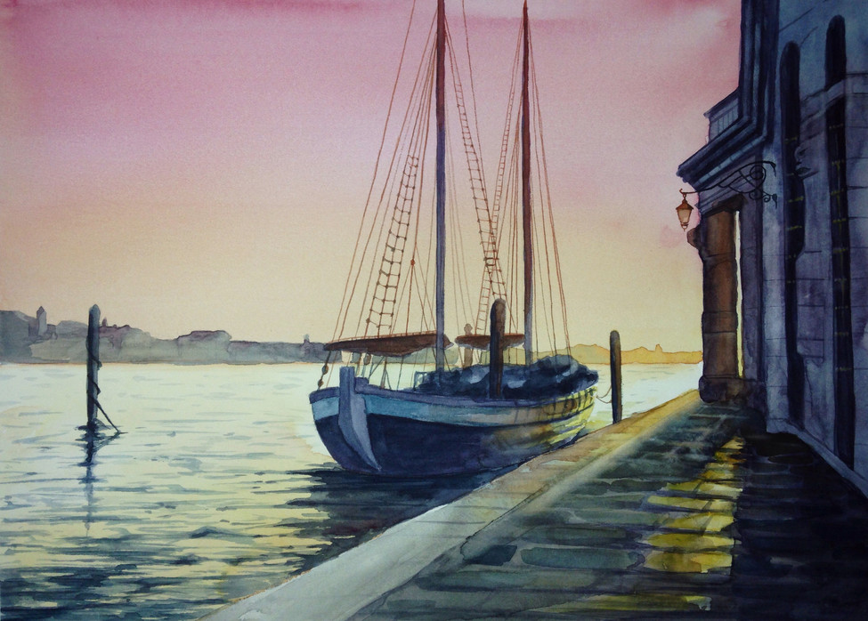 Рассвет в порту