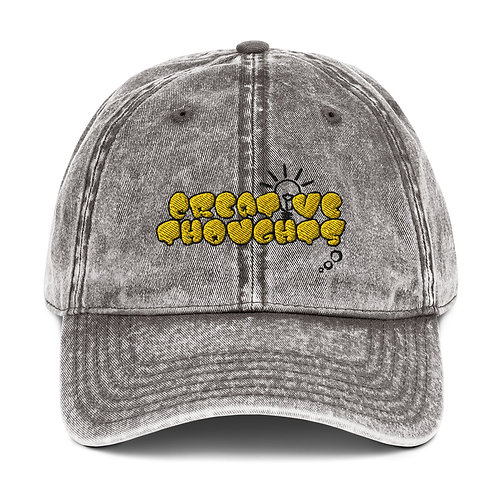Creative Thoughts Yellow Vintage Cotton Twill Cap