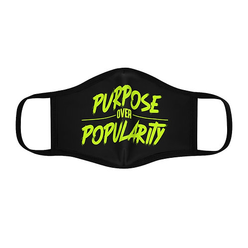 Purpose over Popularity Fitted Polyester Face Mask