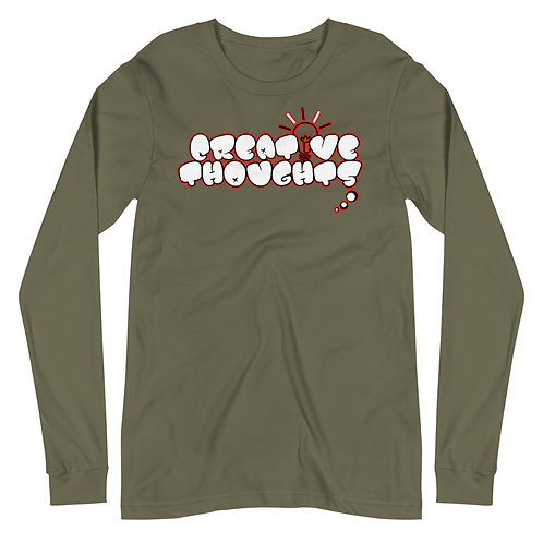 Creative Thoughts Red Unisex Long Sleeve Tee