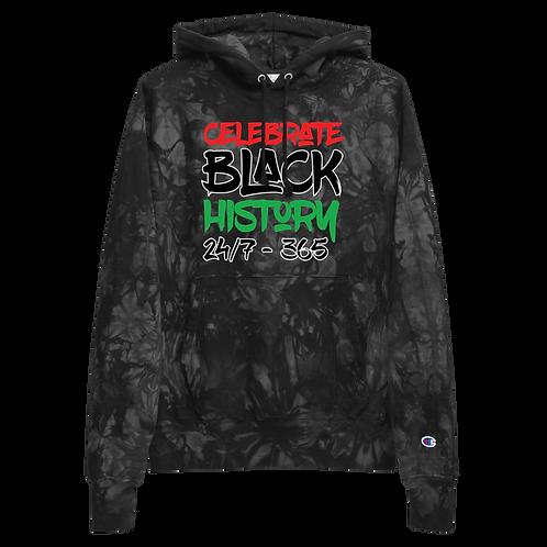 BLK 365 Unisex Champion tie-dye hoodie