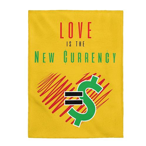 Love=Currency Velveteen Plush Blanket