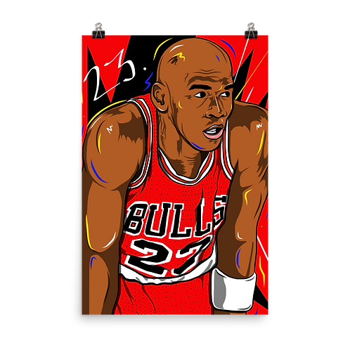 MJ Poster Print