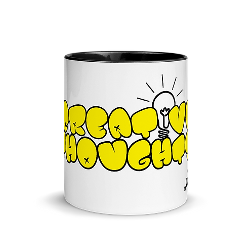 Creative Thoughts Mug with Color Inside