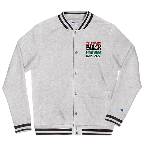 BLK 365 Embroidered Champion Bomber Jacket