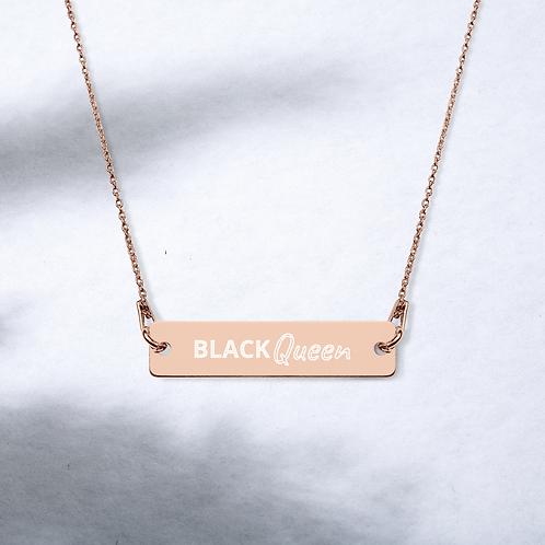 BLK Queen Bar Chain Necklace
