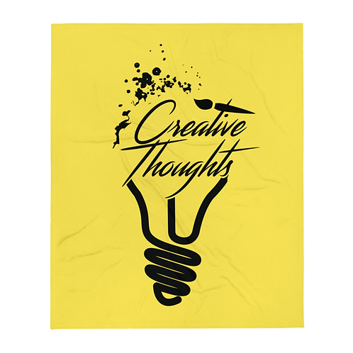 Creative Thoughts Throw Blanket