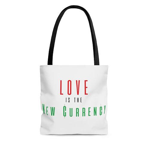 Love = Currency AOP Tote Bag