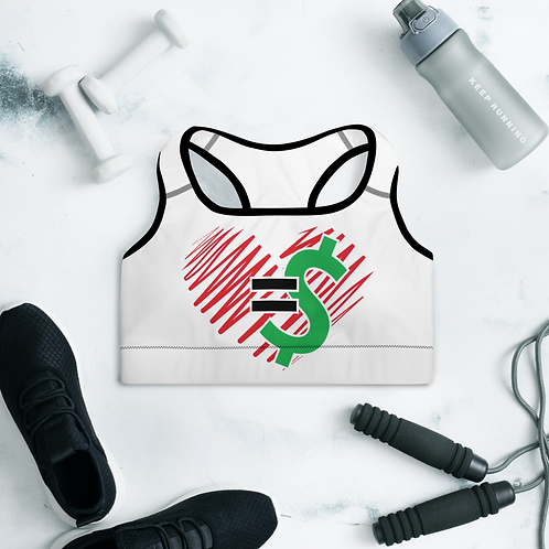 Love = Currency Padded Sports Bra