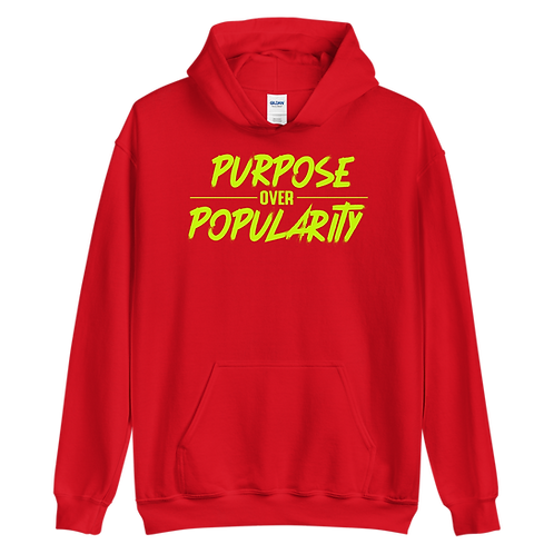 Purpose Over Popularity Unisex Hoodie