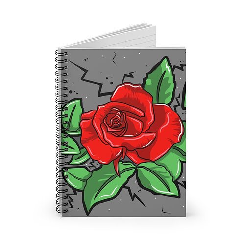 Concrete Rose Spiral Notebook - Ruled Line