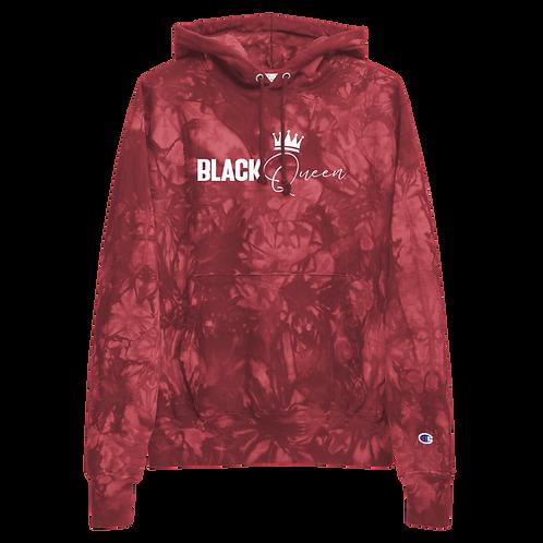 BLK Queen Champion tie-dye hoodie