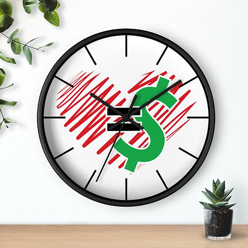 Love = Currency Wall Clock