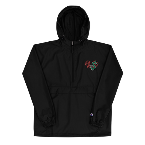 Love = Currency Embroidered Champion Packable Jacket