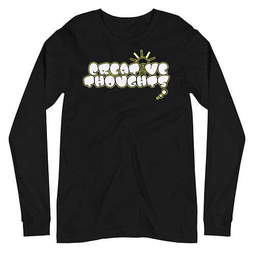 Creative Thoughts Yellow Unisex Long Sleeve Tee