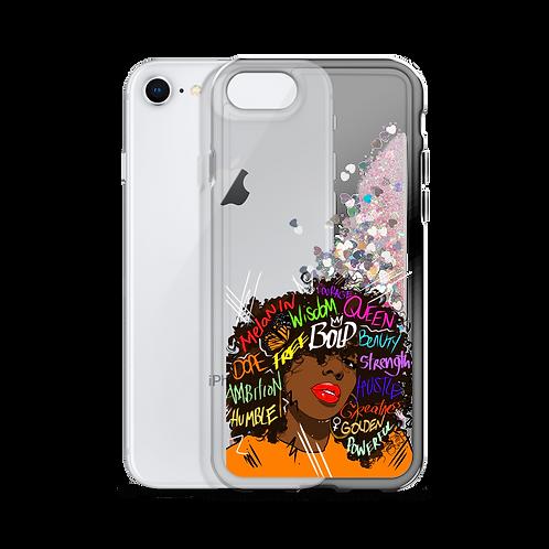 Queenin' Liquid Glitter iPhone Case
