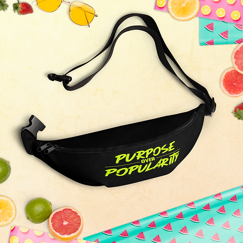 Purpose over Popularity Fanny Pack