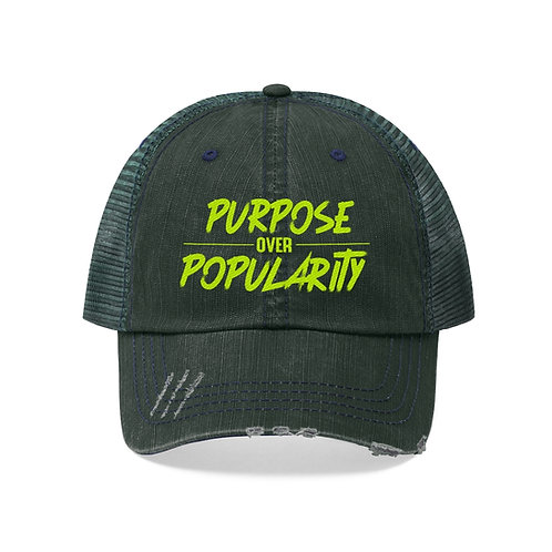 Purpose over Popularity Unisex Trucker Hat