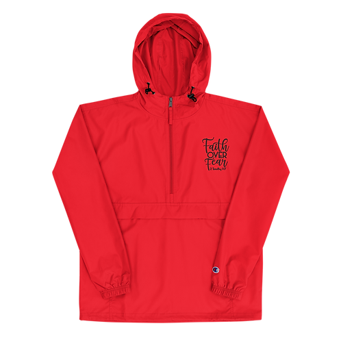 Faith Over Fear Embroidered Champion Jacket