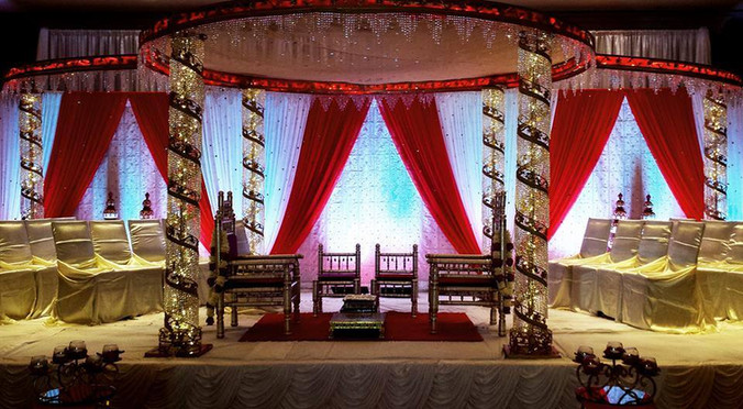 Red & Gold Mandap