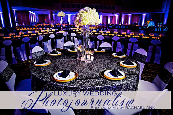 Black & White Wedding Reception Set-up