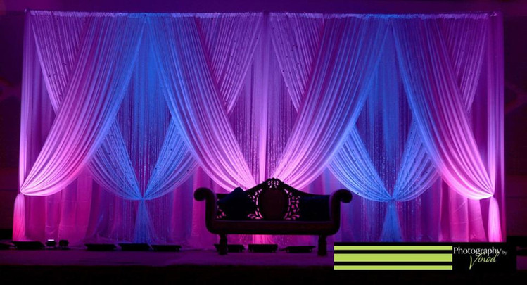 Reception Stage Draping