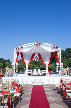 Outdoor Wedding Mandap Set Up