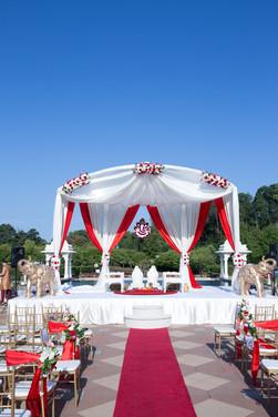 Outdoor Wedding Mandap Set Up