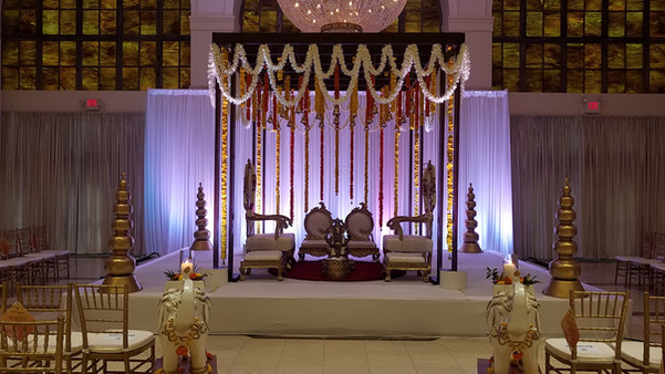 Traditional Colorful Marigold Mandap