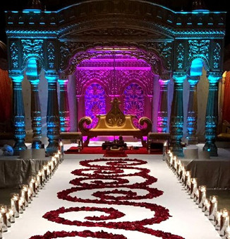 Dramatic Wedding Aisle