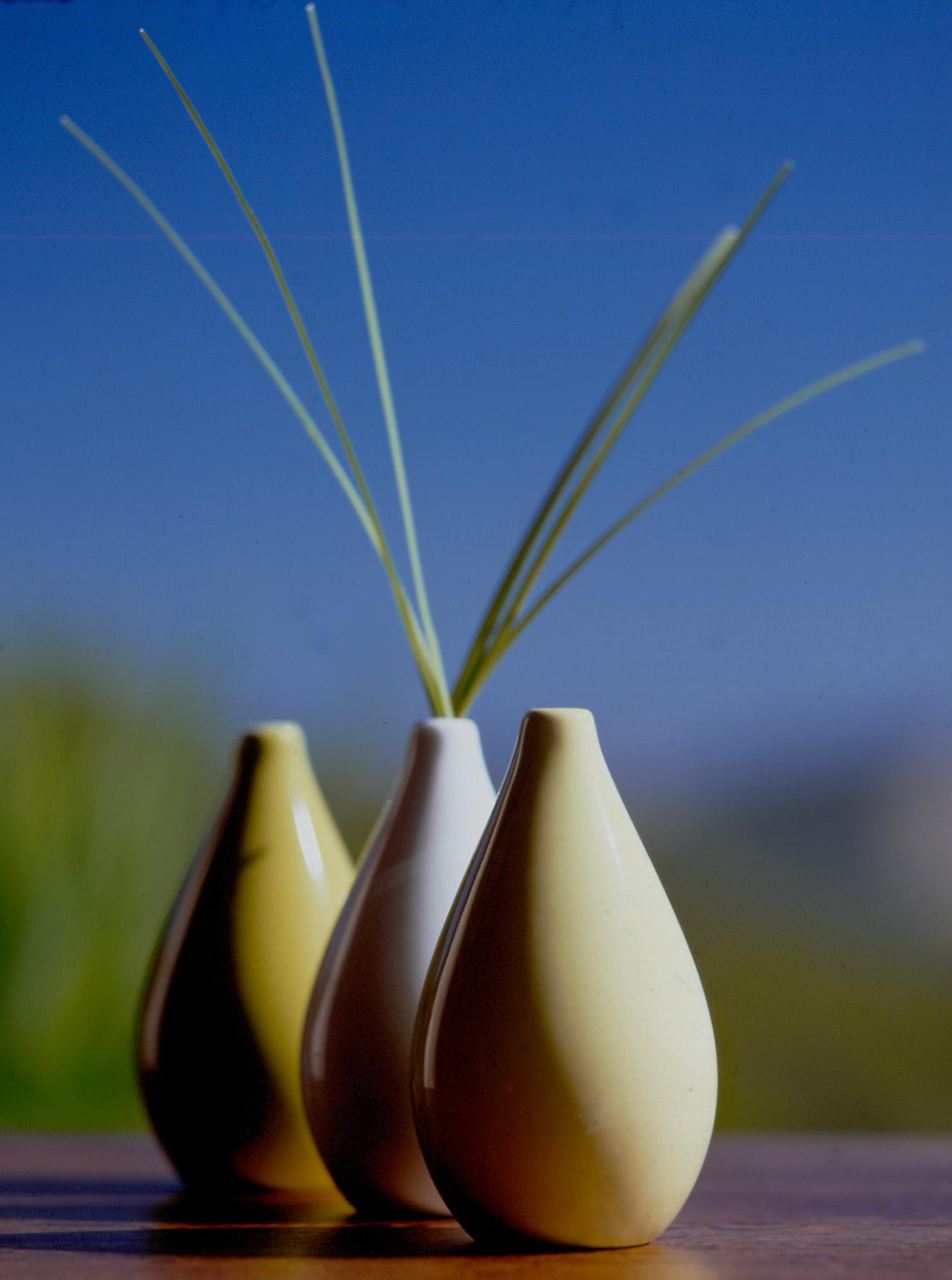 3 bulet vase grass