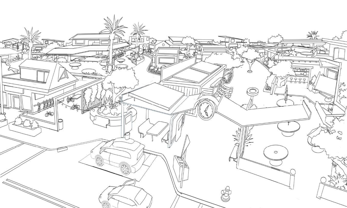 Concept Neightborhood for Culdesac