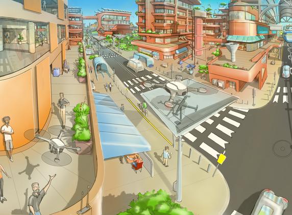 Desert City Square 2040