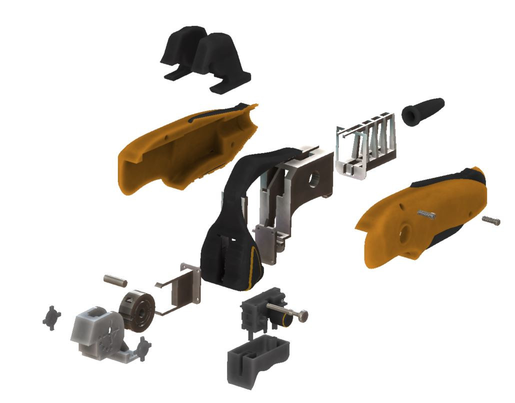 All parts can be analyzed and edited in exploded views