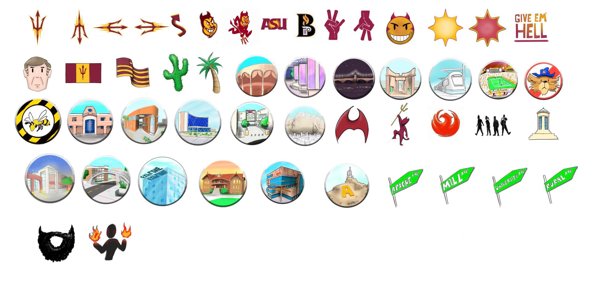 Arizona State University Sticker Pack