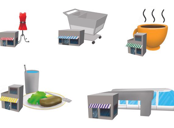 Culdesac Shop Icons