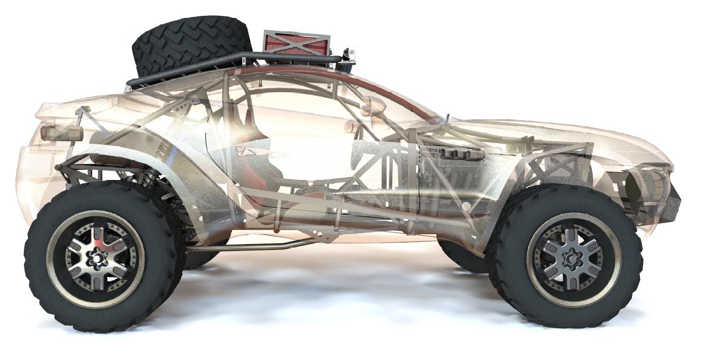 Baja Rally Fighter Concept (Interior)