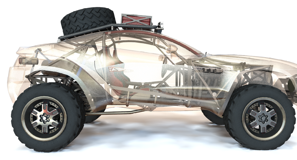 Baja Rally Fighter Concept (Interior)