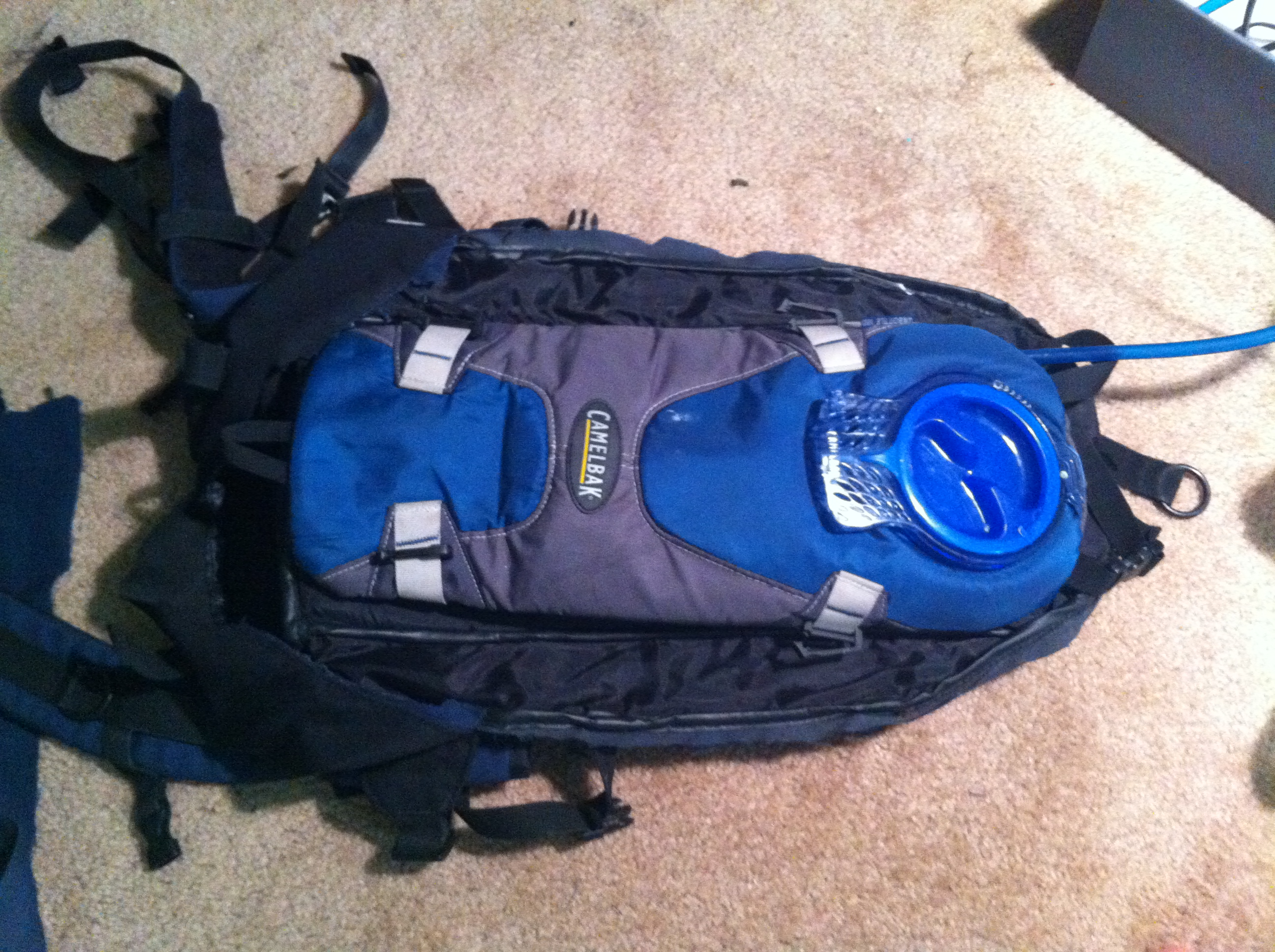 Hydration pack for sizing