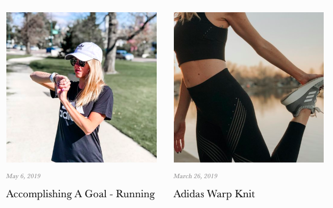 adidas Women Blogger Content Creation