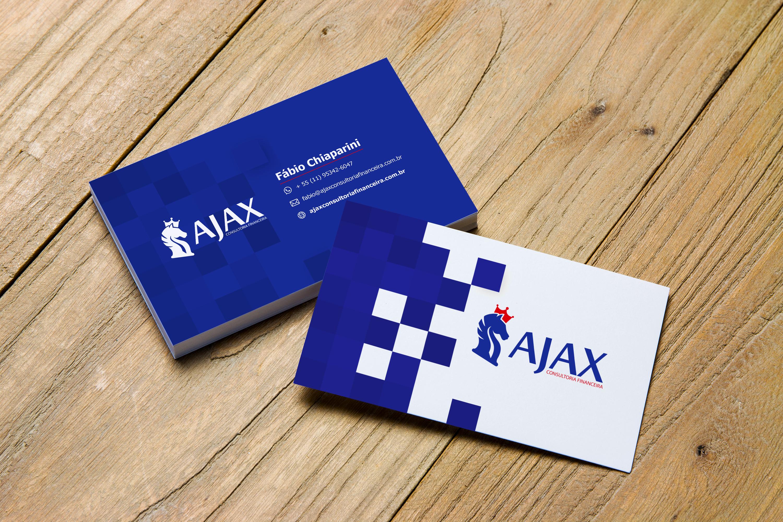 Cartão de Visita para Consultoria Financeira