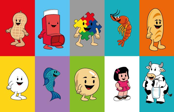 Personagens para Produtos Infantis